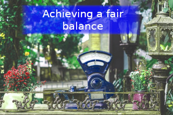 Fair Balance weighing scales