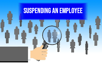 suspending an employee